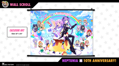 "32"" x 24"" Wall Scroll - Neptunia 10th Anniversary"