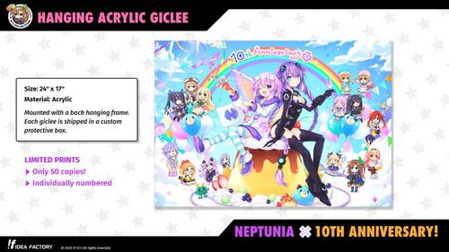 "24"" x 17"" Acrylic Giclee - Neptunia 10th Anniversary"