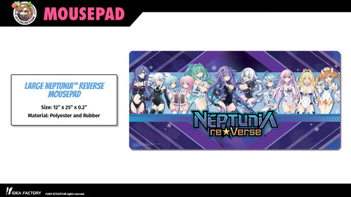 "Large Neptunia ReVerse Mousepad (12"" x 25"") - Back in stock!"