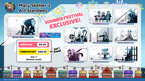 Mary Skelter 2 Art Standees