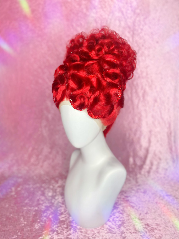 """""""Ruby Red"""" Ready 2 Ship - Pre loved - (used twice, lace cut) with premium glass crystal details"""