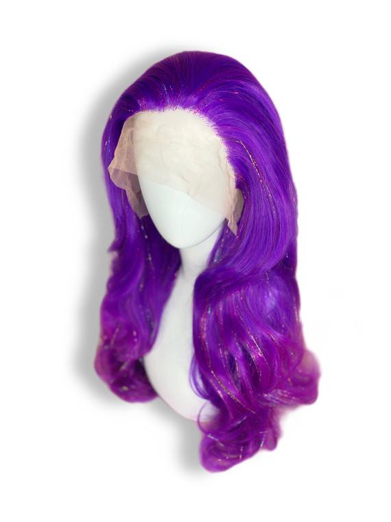 Custom Order Styled Purple Tinsel wig