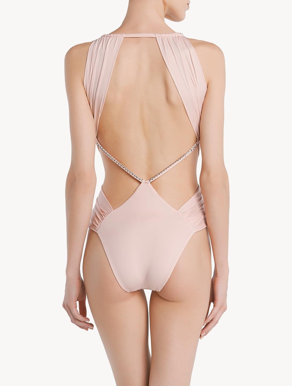 Rose et blanc cœur Cut out maillot de bain taille L par Skinny Dip