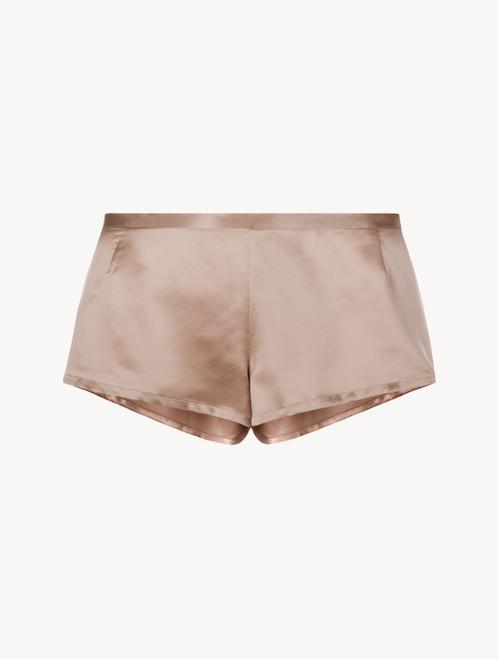Short de pyjama en soie vieux rose