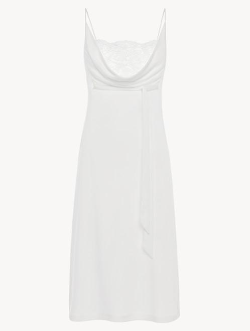 Chemise de nuit mi-longue en jersey modal blanc doux