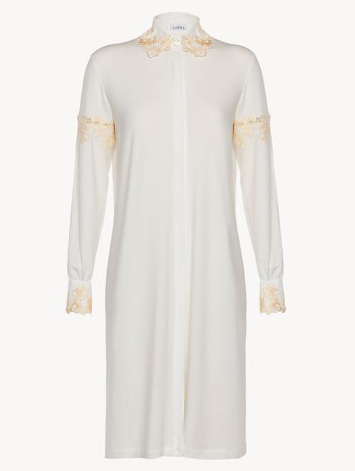 Chemise de nuit courte en jersey blanc