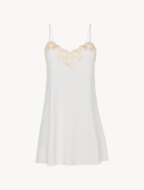 Slip dress en jersey blanc