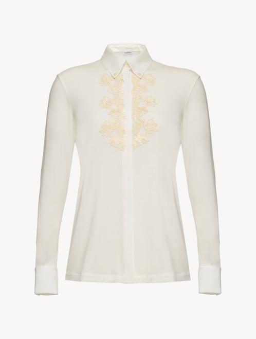 Chemise en jersey blanc