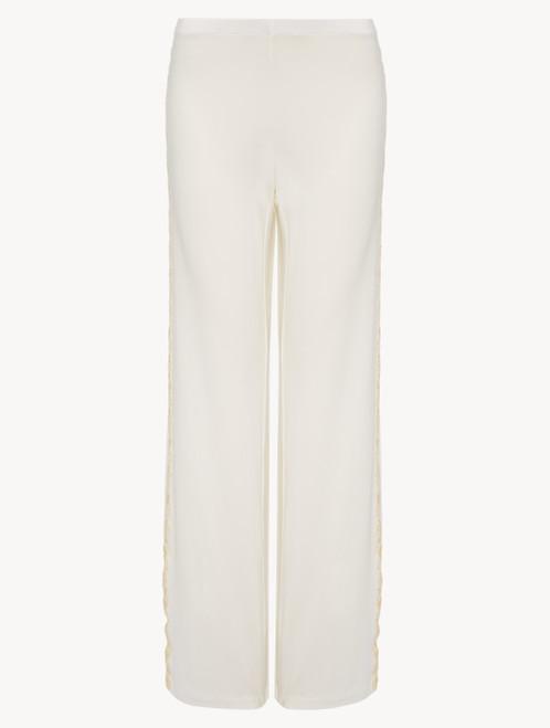 Pantalon simple en jersey blanc