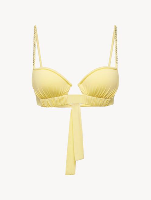 Soutien-gorge de bain jaune avec ses bonnets ampliformes