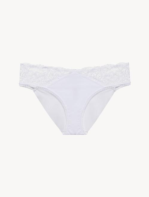Culotte en Lycra® blanc avec dentelle Leavers