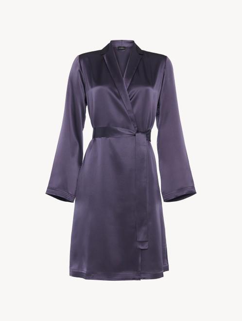 Robe de chambre courte violette