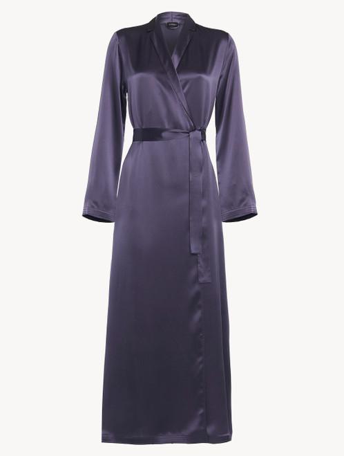 Robe de chambre longue violette