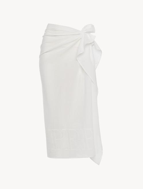 Paréo en coton blanc