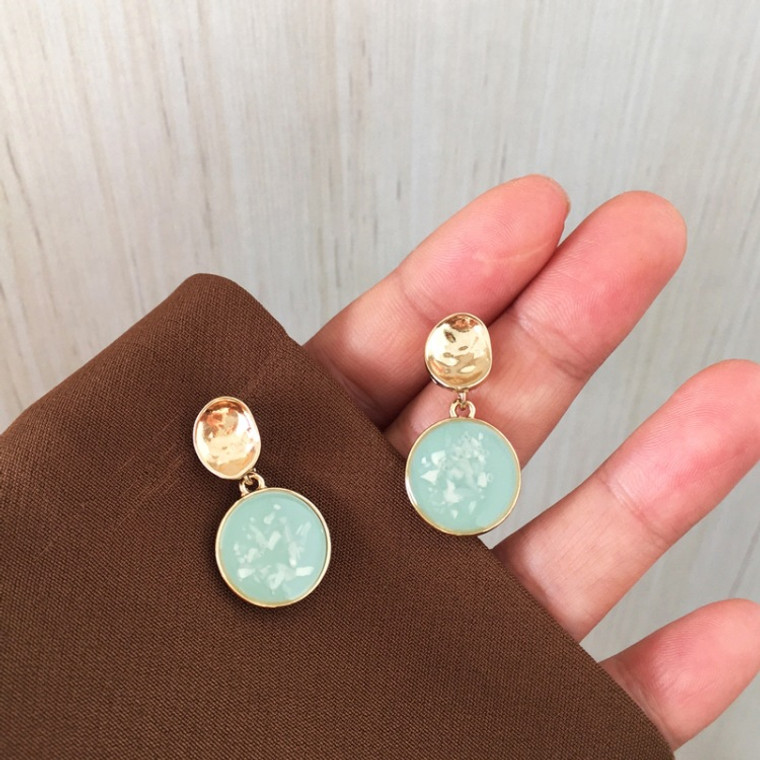 Retro French Round Earrings