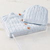 Cable Knit Sweater & Hat (Blue) Gift Basket (B121B21)