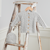 Cable Knit Sweater & Hat (Grey)