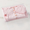 Cable Knit Bundle - Pink (no embroidery) Gift Basket (B14421)