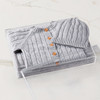 Cable Knit Bundle - Grey (no embroidery) Gift Basket (B14520)