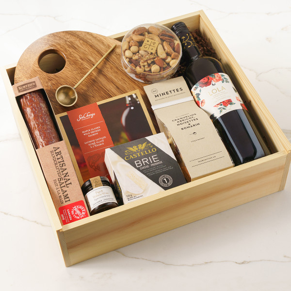 Not Too Sweet (Red Wine) Gift Basket (G51020)