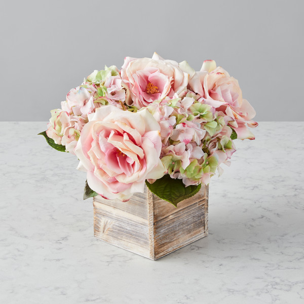 Diana (Faux Flowers) Gift Basket (S31520)