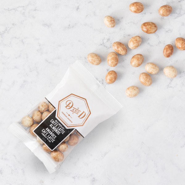 Dabble and Drizzle Caffe Latte Almonds (120g) Gift Basket (LAM-120g-CAFFE LATTE)