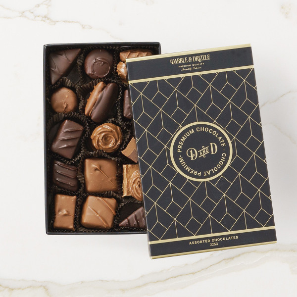 Dabble & Drizzle Assorted Chocolates (225g) Gift Basket (WS05)