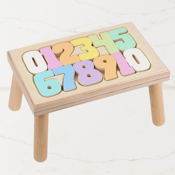 Step Up - Numbers Pastel Gift Basket (B620A20)