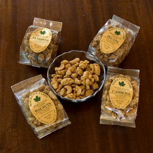 Maple Sugar Coated Nuts