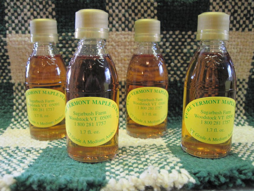 """Pure Vermont Maple Syrup """"Nip""""-24 bottles Wedding Favors"""