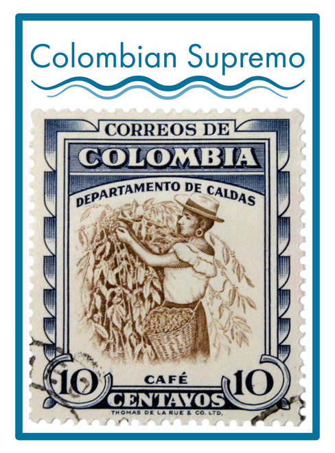 COLOMBIAN SUPREMO COFFEE ---------------- 16 oz.