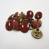 "Burgundy Enamel Snap Fastener Button Cap - 1/4"" Stem"