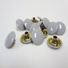 "Light Grey Enamel Snap Fastener Button Cap - 1/4"" Stem"