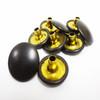 "Military Black (Dull) Snap Fastener Button Cap - 1/4"" Stem"