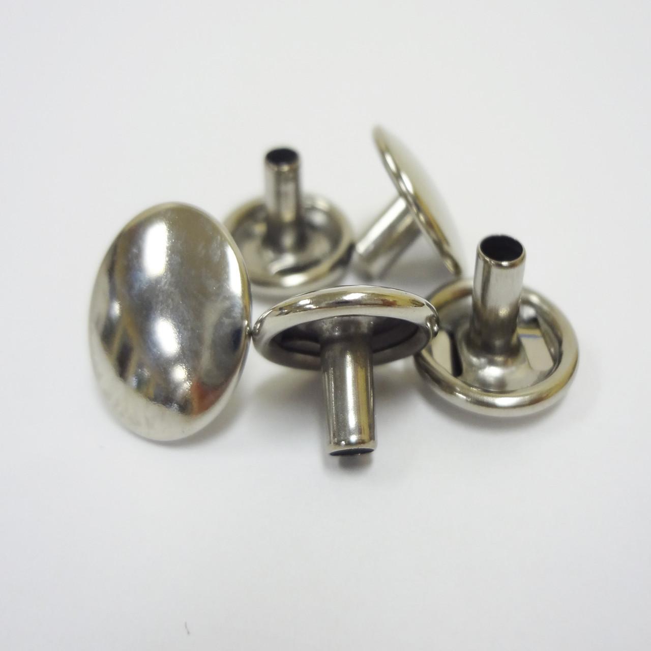 "Snap Fastener Button Cap - 1/4"" Stem - Stainless Steel"