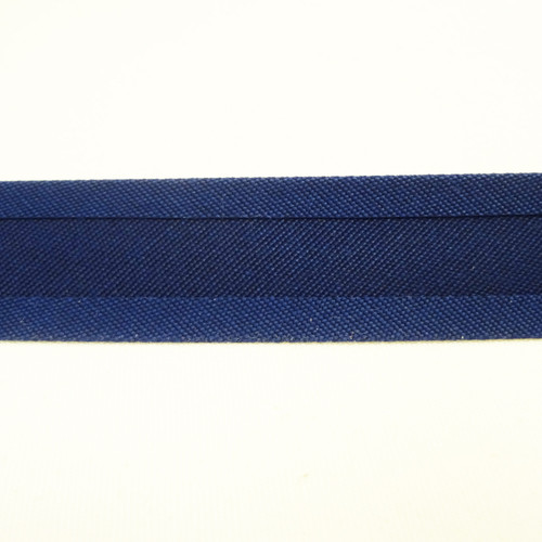"Recacril Admiral Blue Bias Binding 1"" Wide - Two Turn"
