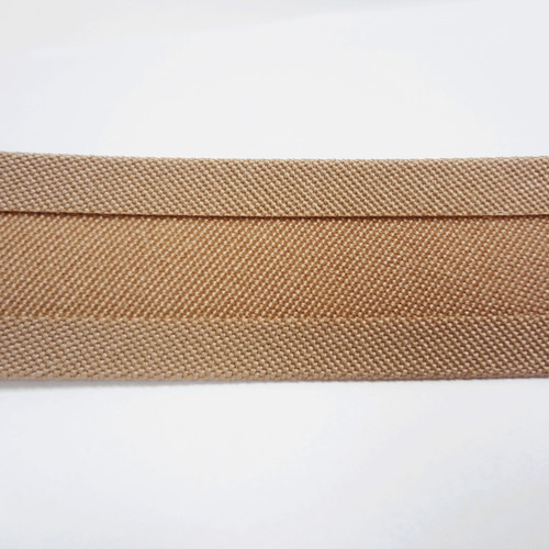 "Recacril Beige Bias Binding 1"" Wide - Two Turn"