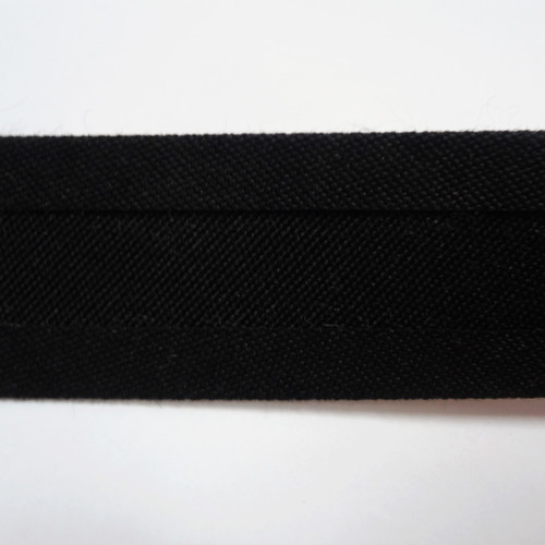 "Recacril Black Bias Binding 1"" Wide - Two Turn"