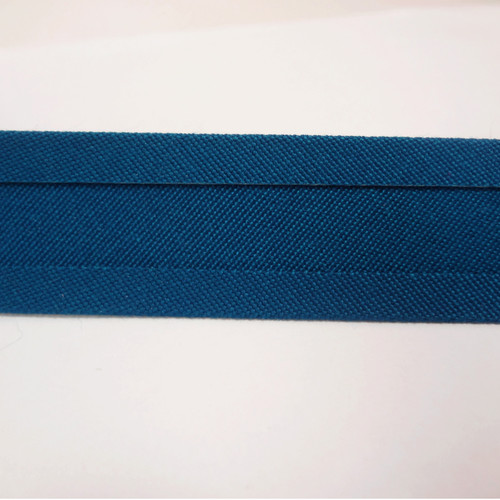 "Recacril Blue Bias Binding 1"" Wide - Two Turn"