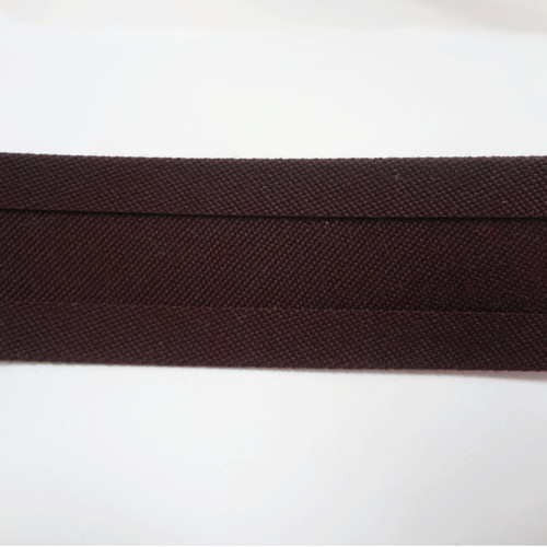 "Recacril Brown Bias Binding 1"" Wide - Two Turn"