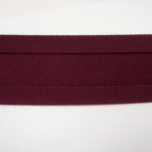 "Recacril Burgundy Bias Binding 1"" Wide - Two Turn"