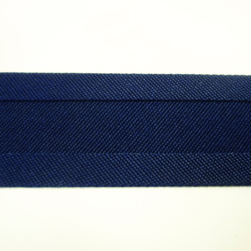"Recacril Captain Navy Bias Binding 1"" Wide - Two Turn"