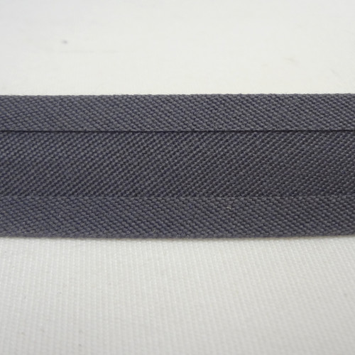 "Recacril Charcoal Bias Binding 1"" Wide - Two Turn"