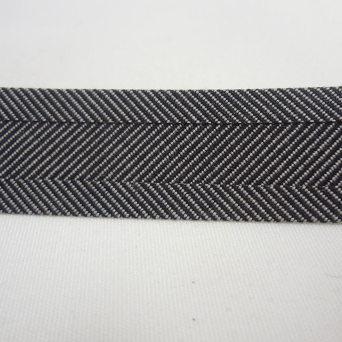 "Recacril Charcoal Tweed Bias Binding 1"" Wide - Two Turn"