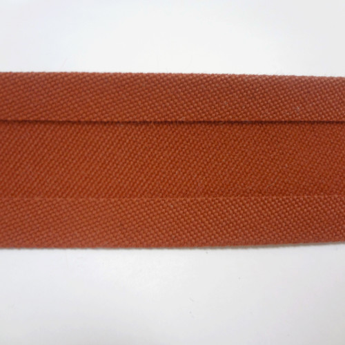 "Recacril Chestnut Bias Binding 1"" Wide - Two Turn"