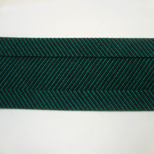 "Recacril Green Tweed Bias Binding 1"" Wide - Two Turn"