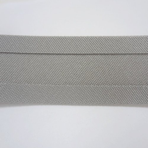 "Recacril Grey Bias Binding 1"" Wide - Two Turn"