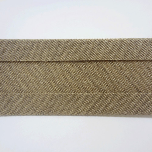 "Recacril Heather Beige Bias Binding 1"" Wide - Two Turn"