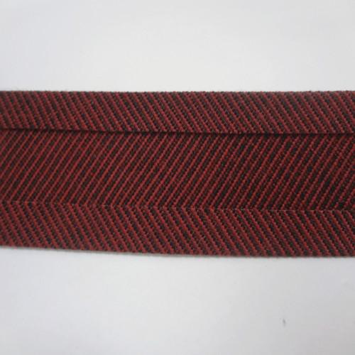 "Recacril Red Tweed Bias Binding 1"" Wide - Two Turn"