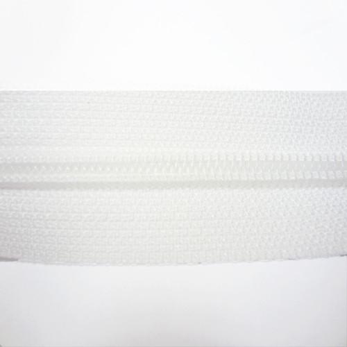 4.5 Coil Zipper Chain - White - Close Up